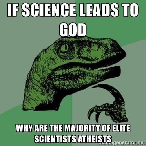 Elite Scientists Don't Have Elite Reasons for Being Atheists